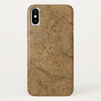 Funda Para iPhone X Mirada de madera del grano del humo de la corteza