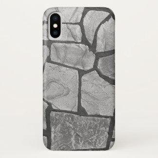 Funda Para iPhone X Mirada de pavimentación de piedra gris decorativa
