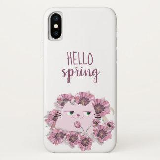 Funda Para iPhone X Moda púrpura floral del flor de la floración de la