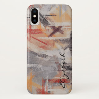 Funda Para iPhone X Modelo abstracto coloreado pastel