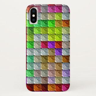 Funda Para iPhone X Modelo abstracto colorido