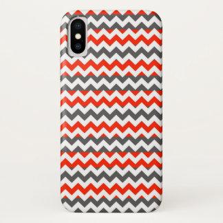 Funda Para iPhone X Modelo azteca de la raya del zigzag de Chevron