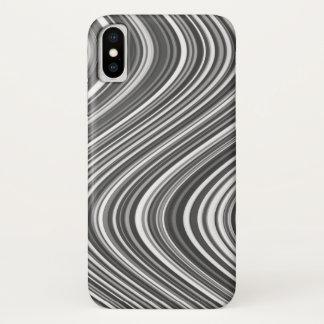 Funda Para iPhone X Modelo blanco y negro moderno elegante con