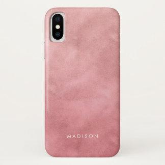 Funda Para iPhone X Modelo color de rosa rosado de Ombre de la