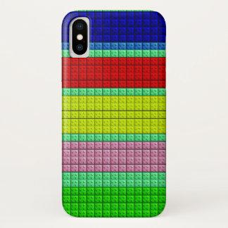 Funda Para iPhone X Modelo colorido de los bloques