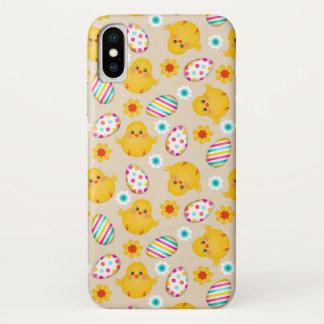 Funda Para iPhone X Modelo colorido de los huevos y de los polluelos