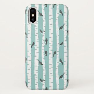 Funda Para iPhone X Modelo con los pájaros y los árboles