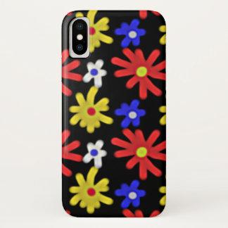 Funda Para iPhone X Modelo de flores colorido retro maravilloso