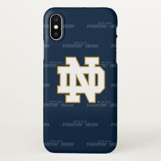Funda Para iPhone X Modelo de repetición de Notre Dame el |