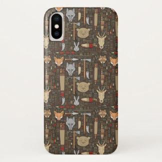 Funda Para iPhone X Modelo étnico de la caza