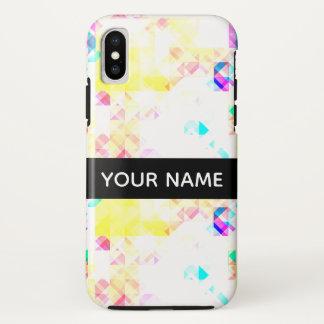 Funda Para iPhone X Modelo geométrico suave elegante con nombre