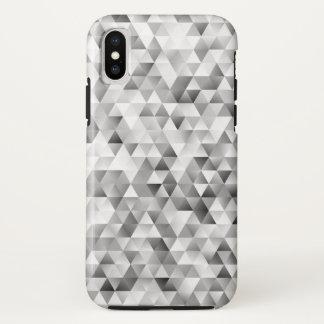 Funda Para iPhone X Modelo gris del triángulo