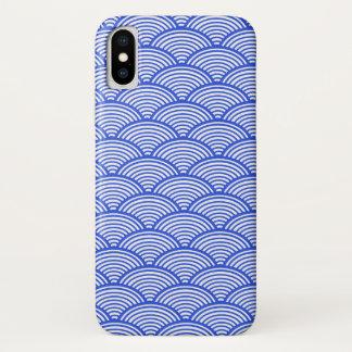 Funda Para iPhone X Modelo hermoso de ondas azules