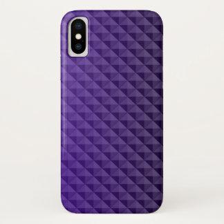Funda Para iPhone X Modelo hermoso de triángulos azules