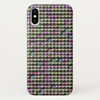 Funda Para iPhone X Modelo multicolor cuadrado moderno