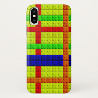 Funda Para iPhone X Modelo multicolor de los bloques