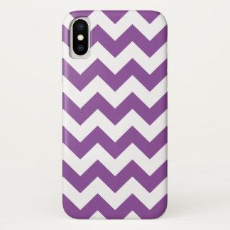 Funda Para iPhone X Modelo púrpura de Chevron del zigzag