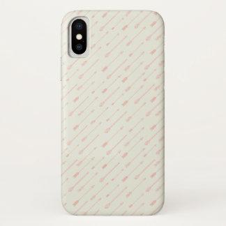 Funda Para iPhone X Modelo resumido coral de las flechas