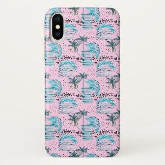 Funda Para iPhone X Modelo rosado de la palmera