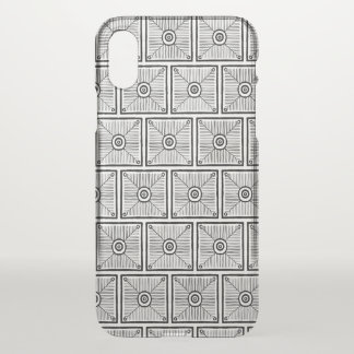 Funda Para iPhone X Modelo tribal blanco y negro
