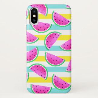 Funda Para iPhone X Modelo veraniego fresco de sandías rosadas