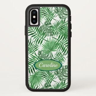 Funda Para iPhone X Modelo verde tropical de encargo del verano de las