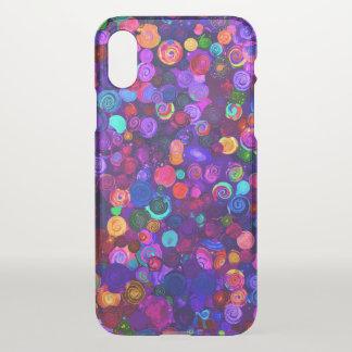 Funda Para iPhone X Modelos espirales coloridos lindos del cosmos