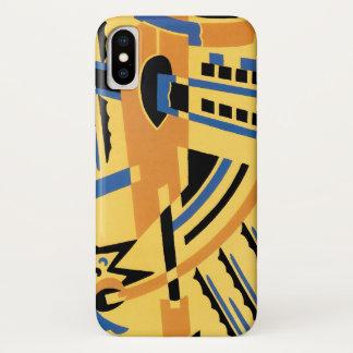 Funda Para iPhone X Modelos geométricos de las formas del jazz retro