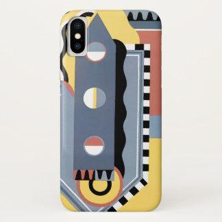 Funda Para iPhone X Modelos geométricos del jazz de Pochoir del art