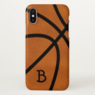 Funda Para iPhone X Monograma del baloncesto