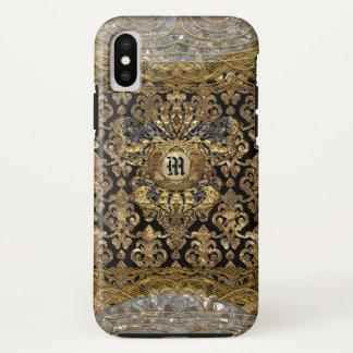 Funda Para iPhone X Monograma del Barroco de Le Shantesa Pretty