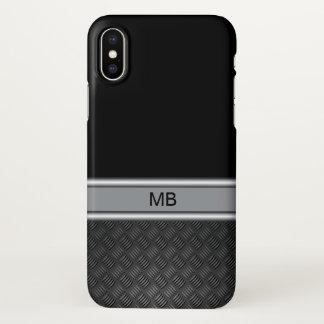 Funda Para iPhone X Monograma del negocio de los hombres