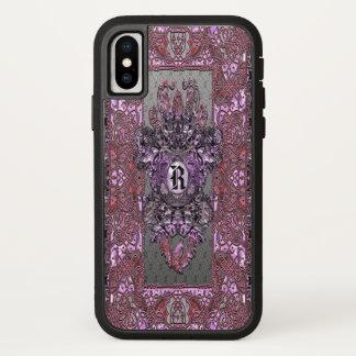 Funda Para iPhone X Monograma elegante del Victorian de Nash Lefe