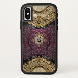 Funda Para iPhone X Monograma fresco femenino de la elegancia de