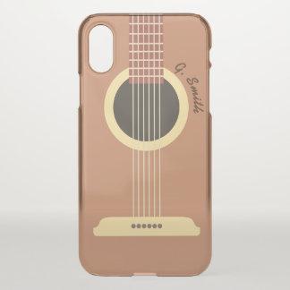 Funda Para iPhone X Monograma. Instrumento musical. Guitarra divertida