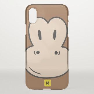 Funda Para iPhone X Monograma: Modelo lindo del safari del mono