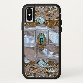 Funda Para iPhone X Monograma protector femenino de Azapothic Gleemer