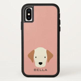 Funda Para iPhone X Monograma. ¡Regla de los perritos! Perro de