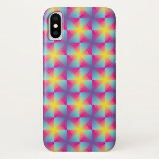 Funda Para iPhone X Mosaico cuadrado abstracto del vector