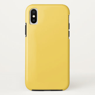 Funda Para iPhone X mostaza del color