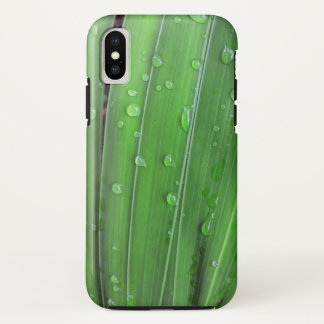 Funda Para iPhone X Navidad palma y gotas de agua