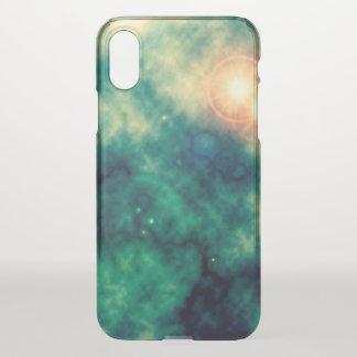 Funda Para iPhone X Nebulosa difusa y supernova del espacio de la