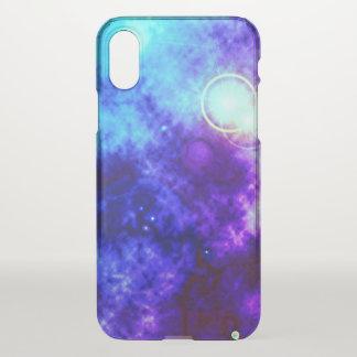 Funda Para iPhone X Nebulosa difusa y supernova del espacio púrpura