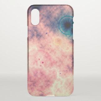 Funda Para iPhone X nebulosa y supernova rosadas difusas del espacio