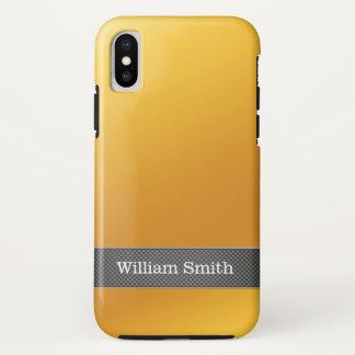 Funda Para iPhone X Negocio de lujo del oro y del carbono