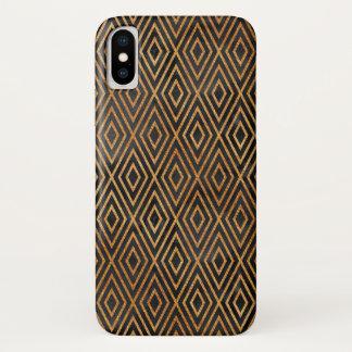Funda Para iPhone X Negro y extracto del oro
