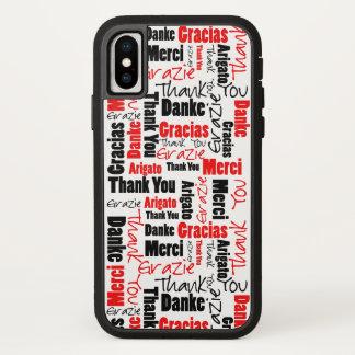 Funda Para iPhone X Negro y rojo gracias redactar la nube