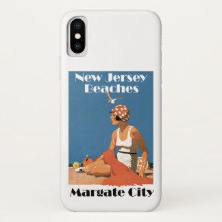 Funda Para iPhone X New Jersey vara la ciudad de Margate del ~