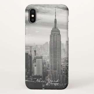 Funda Para iPhone X New York City blanco negro retro