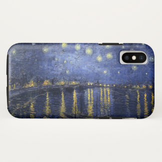 Funda Para iPhone X Noche estrellada sobre el Rhone